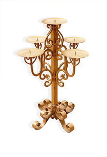 Ornate Gold Candelabra 5pt (570mm)