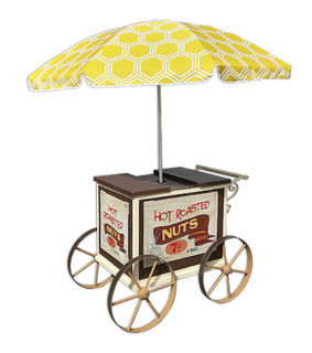 Cart Nut Stand with Umbrella (0.95m x 1.25m x 0.83m)