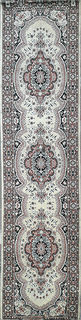 Persian Runner Cream/Pink/Blk/Grey Design (0.8m x 3.1m)
