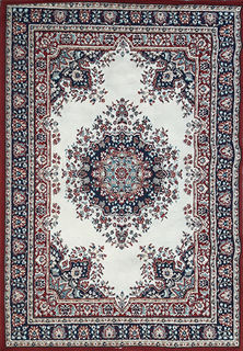 Persian Carpet  Red Cream Blue (1.7 x 1.2)