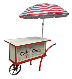 Cart Cotton Candy with Umbrella  (0.6m x 1.65m x  0.73m)