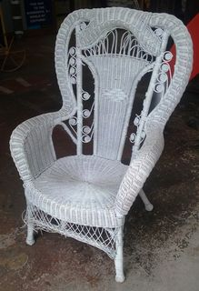 Cane Chair #04 Victorian White [x= 1] Slightly Damaged