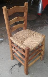 Kitchen Chair Rustic With Rush Seat ( 6 in stock)