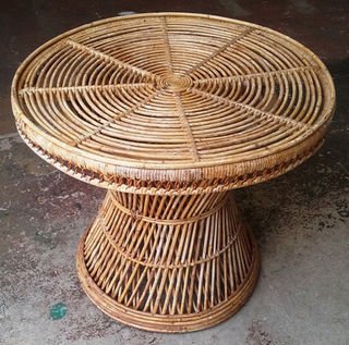 Cane Coffee Table #59 Round (50cm high x 60 diam)