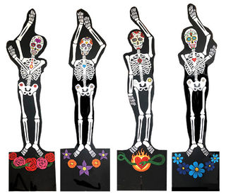 Cutout Day Of The Dead Skeleton (2.2 m)