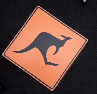 Kangaroo Sign (36 x 36cm) on stand