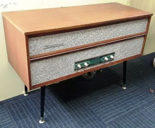 Record Player/ Radio Stereophonic 1950s/60s (92 x 62 x 38cm) *not working