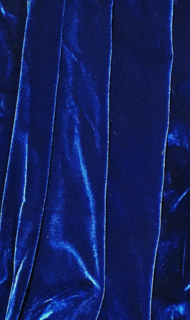 Curtain Blue Velvet  w/ Sleeve (1m wide x 2 m tall) 1 in stock.