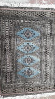 Carpet Persian Geometric Blue Red (1.20m x 0.80m)
