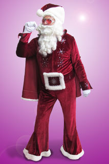 Santa Suit ELVIS with Wig and beard $140 ex GST
