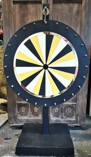 Wheel of Fortune Large Black, White and Gold.(1.75m high x 1m wide x 0.65m) .