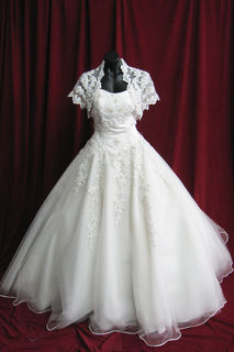 Wedding Dress w Bolero Jacket sz.14 $100.00 Plus gst 45320092