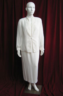 Mother of the Bride Suit Cream w Mandarin Collar sz.16. 45260884