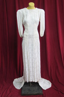 Wedding Dress 1940s sz. 10 45320048