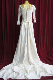 Wedding Dress Silk Rouched Bodice Back sz.8 45320021