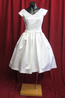Wedding Dress Short 1950s Style Cap Sleeves sz.12 45328498