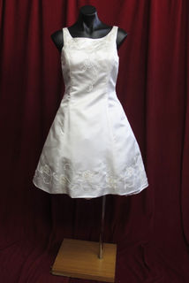 Wedding Dress Short Sleeveless 1960s Style sz.10 41050309