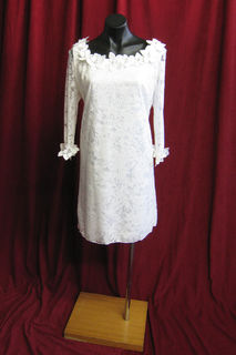 Wedding Dress Short Felt Flower Detail sz. 14 45326124