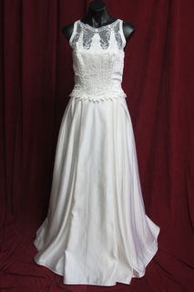 Wedding Dress Satin Full Skirt sz.8,10,12, 45320120