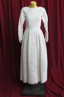 Wedding Dress 1950s Textured sz.8