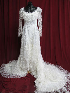 Wedding Dress Lacy Full Train sz.10 45320132