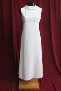 Wedding Dress 1970s  Sleeveless Roll Neck sz.12 45010766