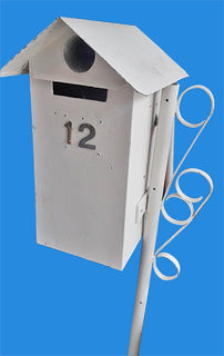 Letterbox White on Stand 1.25m high