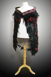 Red/Black Feathered Cloak
