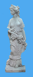 Greek woman statue small w/ grapes 60cm