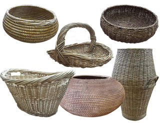 Baskets small assorted shapes and sizes.