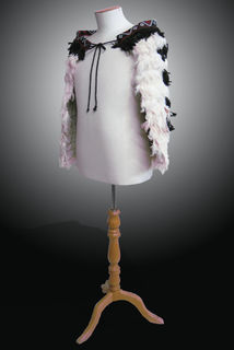 Small Feather Cloak for Children, Black/White
