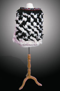 Small Feather Cloak for Children, Black/White Back View