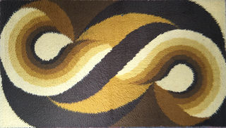 Carpet Swirl Pattern. 1.65 x 0.9m