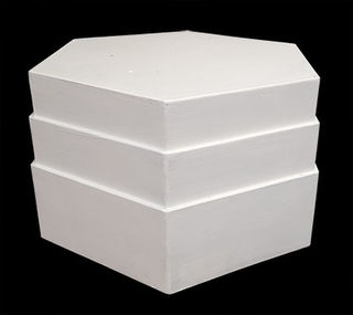 Plinth White Octagonal Small 40 x 40 x 26cm
