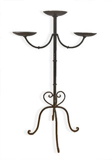Table Candelabra Black 3pt 70cm Tall