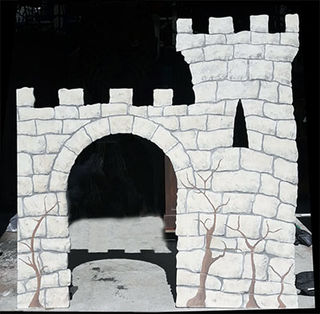 Castle cutout (wooden) 2 x 2m