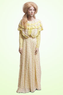 2 Piece Soft Yellow with Pintuncks , Early 1900s