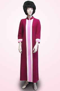 Dressing Gown Dark Pink with Stripe At Front 1960s