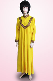 Dressing Gown Yellow with Gold Trim 1960s