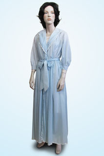 Dressing Gown Pale Blue 50s/60s