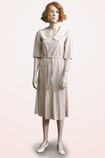 Dress Small Floral Cotton 1930s