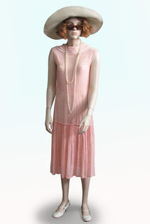 Shift Dress Pale Pink 1920s