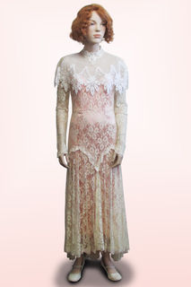 Dress Lace with Peach Under Slip 1920s