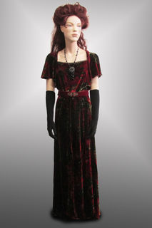 Evening Gown Maroon Davore 1900s