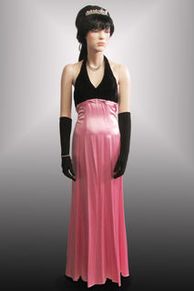 Evening Gown Pink/Black 1960s/70s
