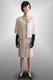 Jacket and Dress Silver 1960s