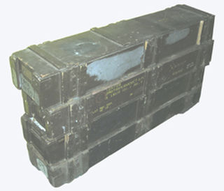 Military Box #001  Large Wooden Military Box - Rifle Box  (1.5m x 0.3m x 0.2m) 4 Available.
