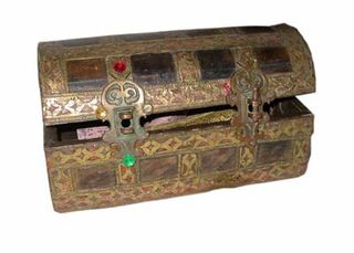 Treasure Chest #12 Ornate Small (H16cm x W31cm x D16cm)