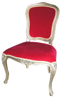 Chair Red Gold 1 x 0.55 x 0.55m