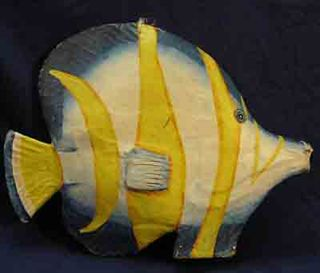 Fish Giant Paper Mache Blue (H40cm x W52cm x D10cm)